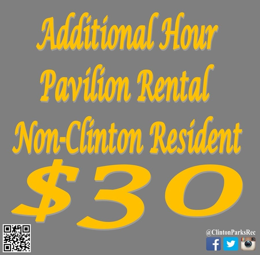 Additional Hour Pavilion Rental - Non-Resident